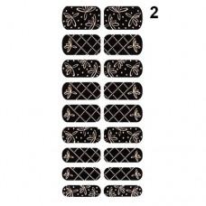 Missha Glam Art Nail Sticker (No2) - nálepky na nehty (M1952)