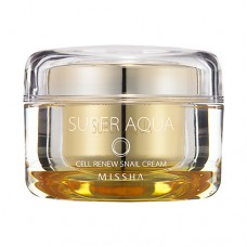 MISSHA Super Aqua Cell Renew Snail Cream - vysoce hydratační krém se šnečím sérem 47ml (E1651)