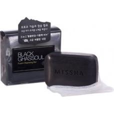 MISSHA Black Ghassoul Foam Cleansing Bar - speciální mýdlo na aknetickou pleť (M5703)