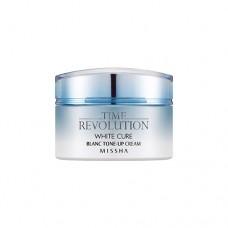 MISSHA Time Revolution White Cure Blanc Tone-up Cream - pleťový krém s depigmentačními účinky (M5495)