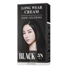 MISSHA Long Wear Cream Hair Coloring Black - Dlouhotrvající barva na vlasy (M9891)